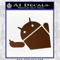 Android Middle Finger Decal Sticker Brown Vinyl 120x120