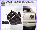 Android Middle Finger Decal Sticker Carbon Fiber Black 120x97
