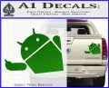 Android Middle Finger Decal Sticker Green Vinyl 120x97