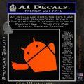 Android Middle Finger Decal Sticker Orange Vinyl Emblem 120x120