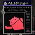 Android Middle Finger Decal Sticker Pink Vinyl Emblem 120x120