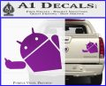 Android Middle Finger Decal Sticker Purple Vinyl 120x97