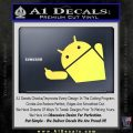 Android Middle Finger Decal Sticker Yelllow Vinyl 120x120