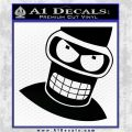 Angry Bender 3D Futurama Decal Sticker Black Logo Emblem 120x120