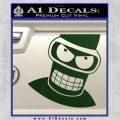 Angry Bender 3D Futurama Decal Sticker Dark Green Vinyl 120x120