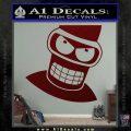 Angry Bender 3D Futurama Decal Sticker Dark Red Vinyl 120x120