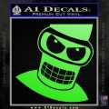 Angry Bender 3D Futurama Decal Sticker Lime Green Vinyl 120x120