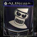 Angry Bender 3D Futurama Decal Sticker Silver Vinyl 120x120