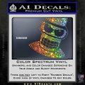 Angry Bender 3D Futurama Decal Sticker Sparkle Glitter Vinyl 120x120
