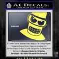 Angry Bender 3D Futurama Decal Sticker Yelllow Vinyl 120x120