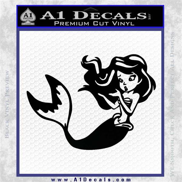 Ariel Decal Sticker Cute Mermaid Black Vinyl Vinyl