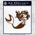 Ariel Decal Sticker Cute Mermaid Brown Vinyl Vinyl 120x120