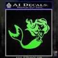 Ariel Decal Sticker Cute Mermaid Lime Green Vinyl Vinyl 120x120