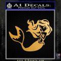 Ariel Decal Sticker Cute Mermaid Metallic Gold Vinyl Vinyl 120x120