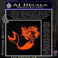 Ariel Decal Sticker Cute Mermaid Orange Vinyl Emblem 120x120