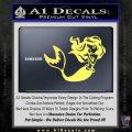 Ariel Decal Sticker Cute Mermaid Yelllow Vinyl 120x120