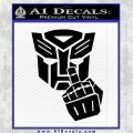 Autobot The FInger Decal Sticker Transformers Black Logo Emblem 120x120