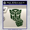 Autobot The FInger Decal Sticker Transformers Dark Green Vinyl 120x120