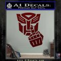 Autobot The FInger Decal Sticker Transformers Dark Red Vinyl 120x120