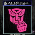 Autobot The FInger Decal Sticker Transformers Hot Pink Vinyl 120x120
