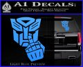 Autobot The FInger Decal Sticker Transformers Light Blue Vinyl 120x97