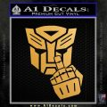 Autobot The FInger Decal Sticker Transformers Metallic Gold Vinyl Vinyl 120x120
