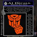 Autobot The FInger Decal Sticker Transformers Orange Vinyl Emblem 120x120