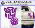 Autobot The FInger Decal Sticker Transformers Purple Vinyl 120x97