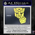 Autobot The FInger Decal Sticker Transformers Yelllow Vinyl 120x120