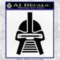 Battlestar Galactica Cylon Head Retro Decal Sticker Black Logo Emblem 120x120
