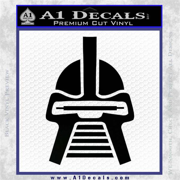 Battlestar Galactica Cylon Head Retro Decal Sticker Black Logo Emblem
