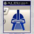 Battlestar Galactica Cylon Head Retro Decal Sticker Blue Vinyl 120x120