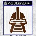 Battlestar Galactica Cylon Head Retro Decal Sticker Brown Vinyl 120x120
