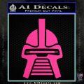 Battlestar Galactica Cylon Head Retro Decal Sticker Hot Pink Vinyl 120x120