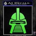 Battlestar Galactica Cylon Head Retro Decal Sticker Lime Green Vinyl 120x120