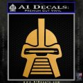 Battlestar Galactica Cylon Head Retro Decal Sticker Metallic Gold Vinyl Vinyl 120x120