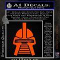 Battlestar Galactica Cylon Head Retro Decal Sticker Orange Vinyl Emblem 120x120
