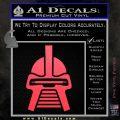Battlestar Galactica Cylon Head Retro Decal Sticker Pink Vinyl Emblem 120x120