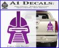 Battlestar Galactica Cylon Head Retro Decal Sticker Purple Vinyl 120x97