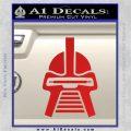 Battlestar Galactica Cylon Head Retro Decal Sticker Red Vinyl 120x120