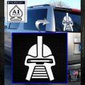 Battlestar Galactica Cylon Head Retro Decal Sticker White Emblem 120x120