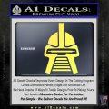 Battlestar Galactica Cylon Head Retro Decal Sticker Yelllow Vinyl 120x120