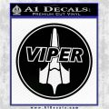 Battlestar Viper Pilot Decal Sticker CR BSG Black Logo Emblem 120x120