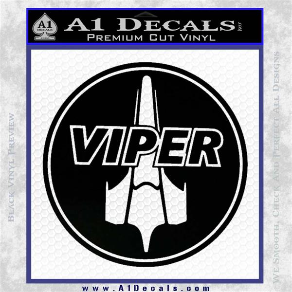 Battlestar Viper Pilot Decal Sticker CR BSG Black Logo Emblem