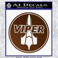 Battlestar Viper Pilot Decal Sticker CR BSG Brown Vinyl 120x120
