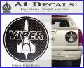 Battlestar Viper Pilot Decal Sticker CR BSG Carbon Fiber Black 120x97