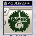 Battlestar Viper Pilot Decal Sticker CR BSG Dark Green Vinyl 120x120