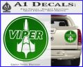 Battlestar Viper Pilot Decal Sticker CR BSG Green Vinyl 120x97