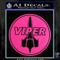 Battlestar Viper Pilot Decal Sticker CR BSG Hot Pink Vinyl 120x120