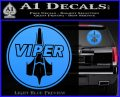 Battlestar Viper Pilot Decal Sticker CR BSG Light Blue Vinyl 120x97